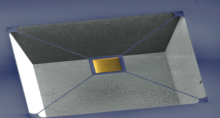 Suspended mirror membrane used in a self-mixing interferometer