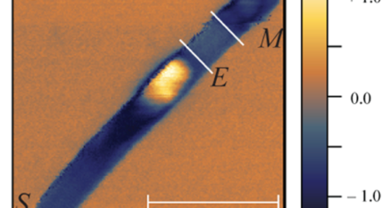 Mid-infrared near-field image of a localized plasmon within an InAs nanowire with inhomogeneous charge density